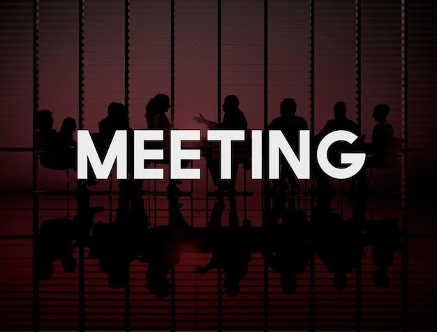 Concetto di conversazione di discussione di seminario di conferenza di riunione Foto Gratuite