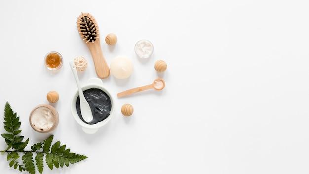 Concetto di cosmetici naturali con spazio di copia Foto Gratuite