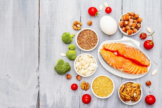 Concetto di dieta chetogenica Foto Premium
