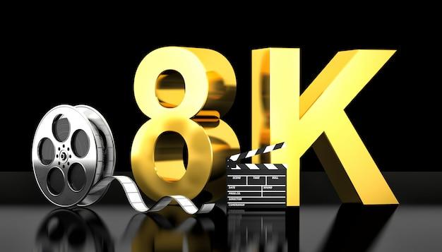 Concetto di film 8k Foto Premium