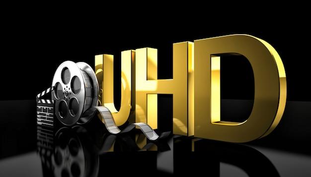 Concetto di film uhd Foto Premium