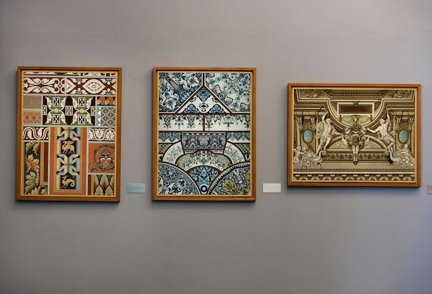 Concetto di galleria d'arte antica Foto Premium