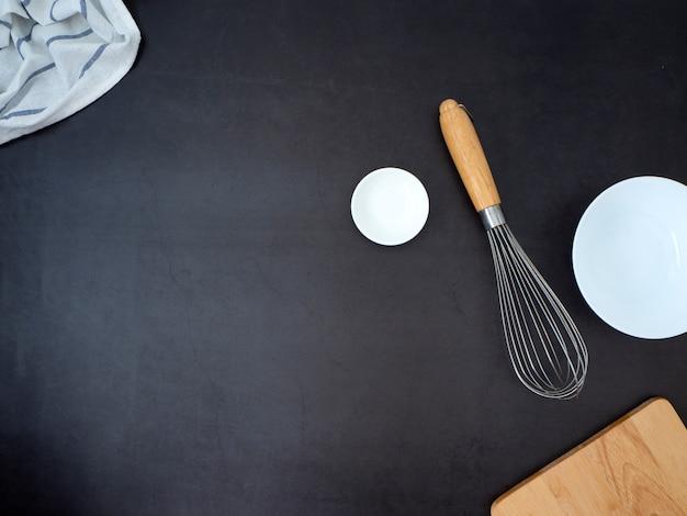 Concetto di ingredienti di cucina casalinga Foto Premium