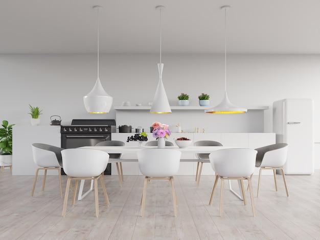 Concetto di interni di cucina. Foto Premium