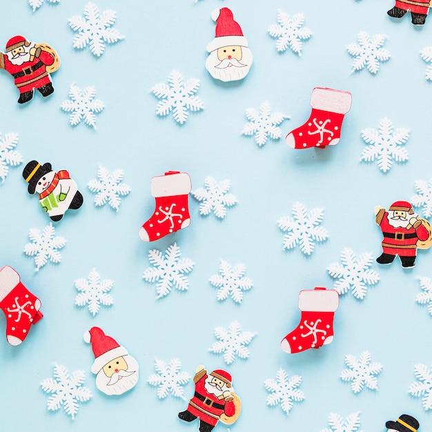 Concetto Di Natale Con Piccole Figure Scaricare Foto Gratis