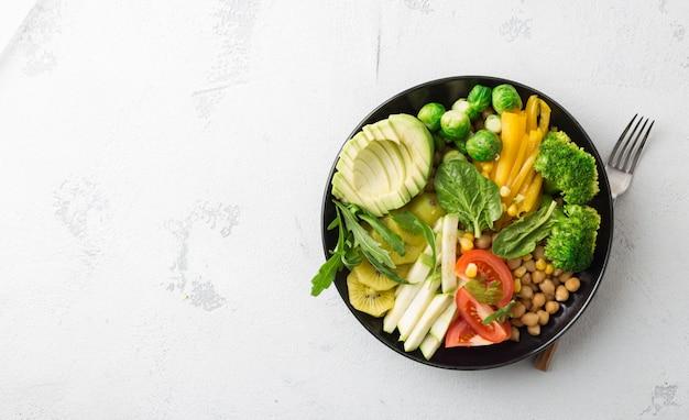 Concetto di nutrizionista cibo sano. Foto Premium