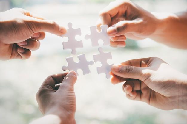Concetto di partnership commerciale. Foto Premium
