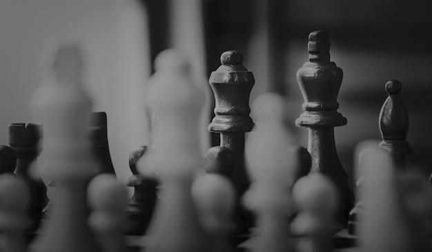 Concetto di strategia aziendale di gioco degli scacchi Foto Gratuite