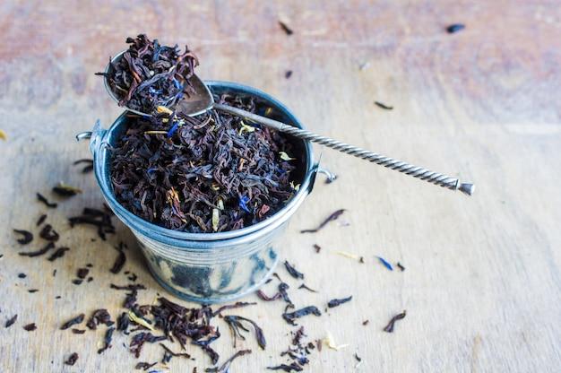 Concetto di tè floreale biologico Foto Premium