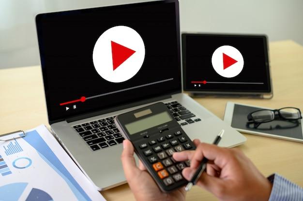 Concetto di tecnologia di marketing Foto Premium