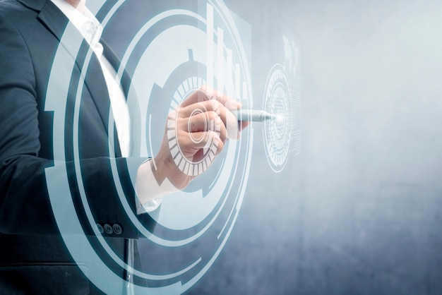 Concetto di tecnologia digitale Foto Premium