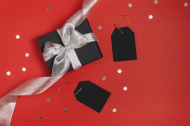 Concetto di vendita venerdì nero. vista piana, vista dall'alto Foto Premium