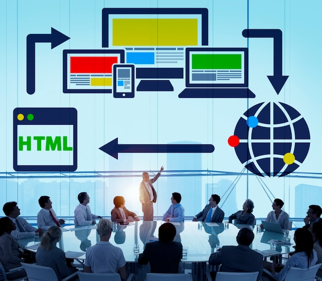 Concetto globale di www della rete digitale di blogging del blog Foto Gratuite