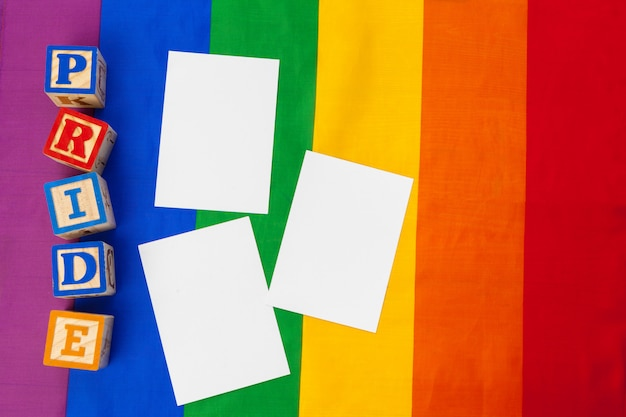 Concetto lgbtq, sfondo gay, messaggio per te Foto Premium