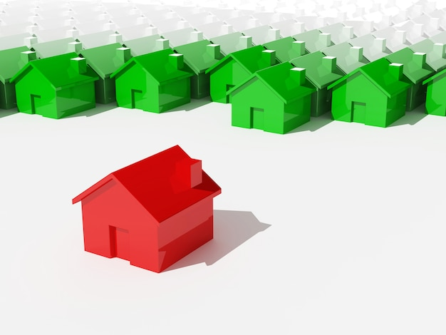 Concetto unico di costruzione di una casa Foto Premium