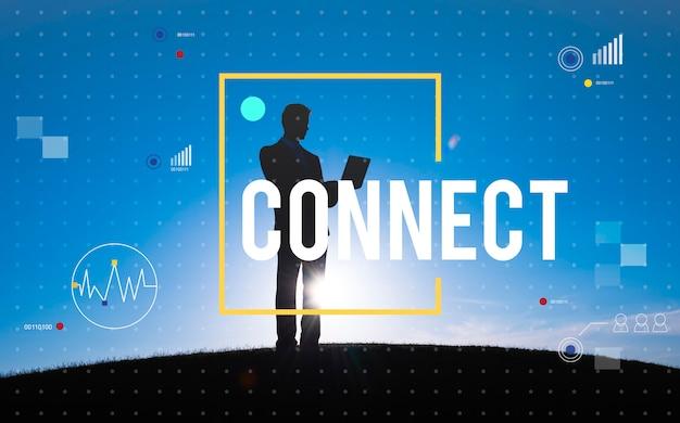 Connetta il concetto di stile di vita di internet di tecnologia della comunicazione Foto Gratuite