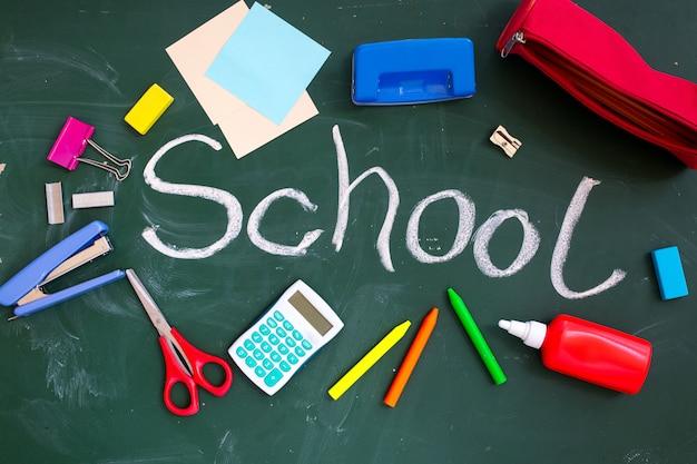 Consiglio scolastico con l'iscrizione Foto Premium
