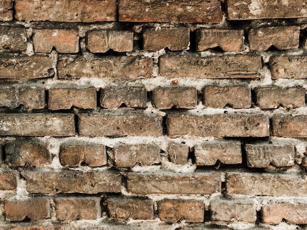 Contesto strutturato del vecchio muro di mattoni d'annata Foto Gratuite