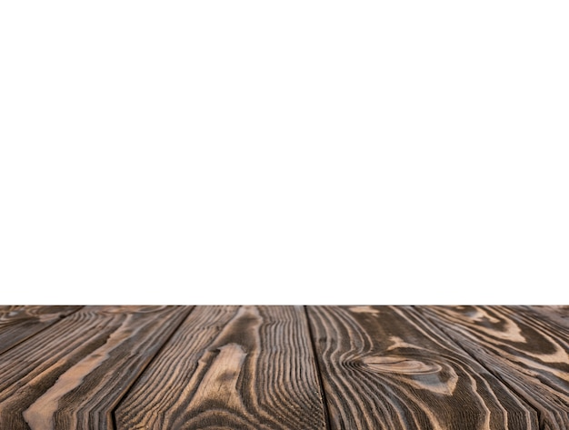 Contesto strutturato marrone di legno isolato su fondo bianco Foto Gratuite