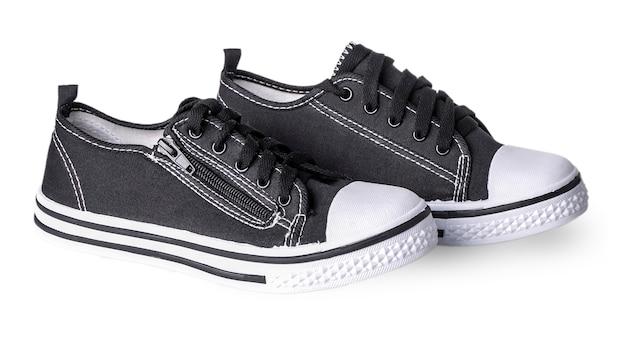 Conveniente per sneaker sportive da uomo in tessuto spesso scuro Foto Premium