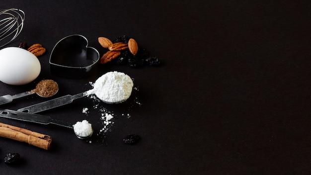 Copia spazio con accessori da cucina Foto Gratuite