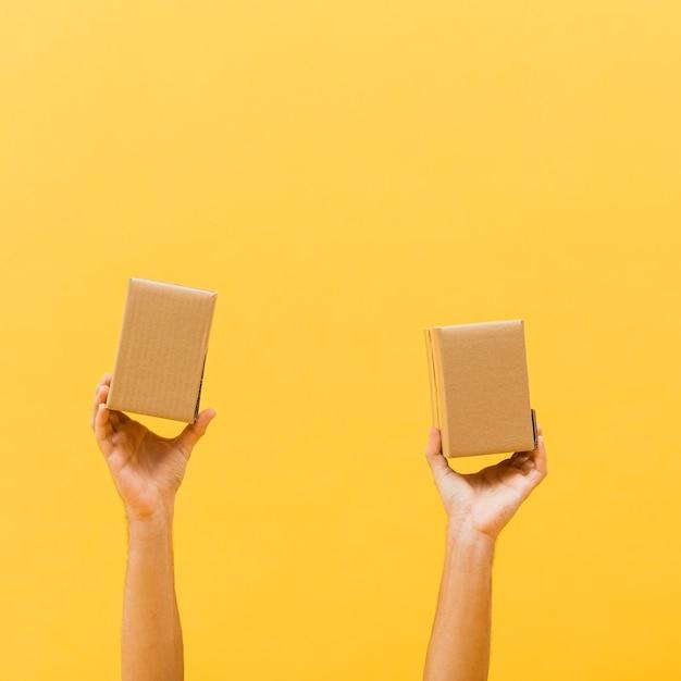 Copia-spazio piccoli pacchetti Foto Gratuite