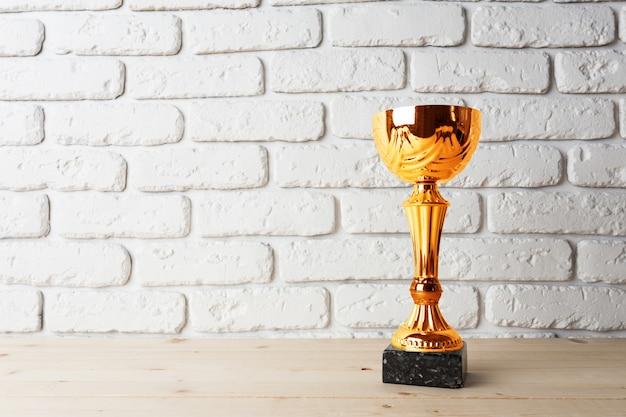 Coppa trofeo d'oro Foto Premium