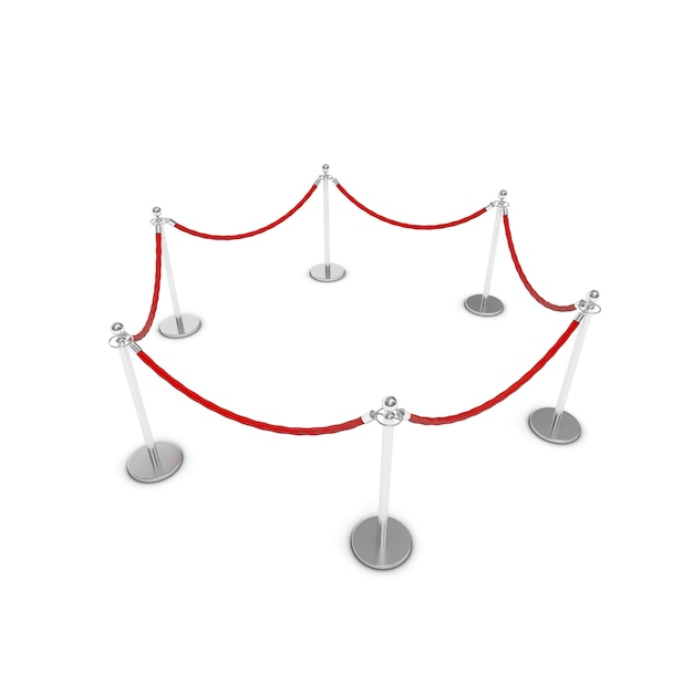 Corda di barriera Foto Premium