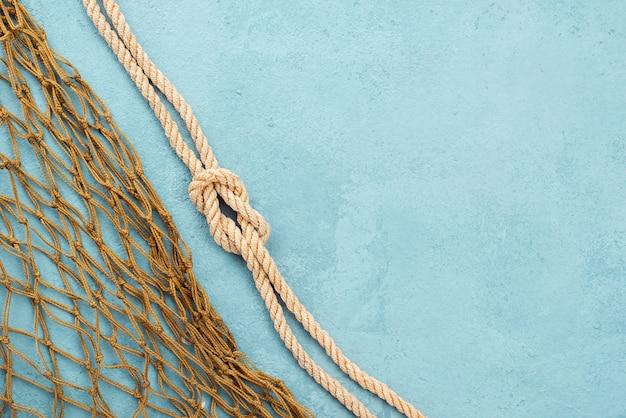 Corda nautica e rete da pesca Foto Gratuite