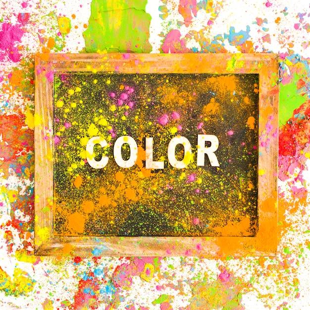 Cornice con titolo di colore tra colori brillanti e secchi Foto Gratuite