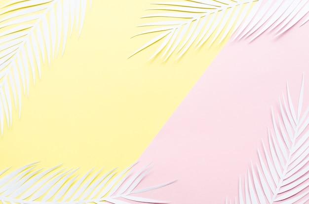 Cornice di foglie di palma di carta Foto Gratuite