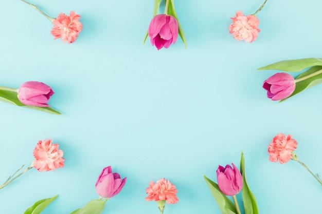 Cornice di tulipani Foto Gratuite