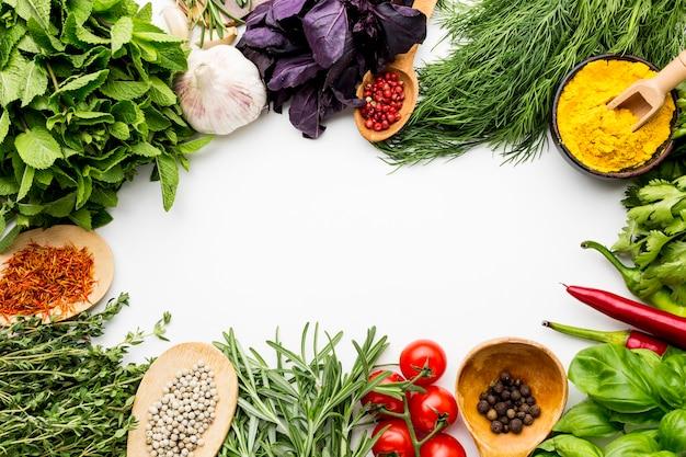 Cornice di verdure e condimenti Foto Gratuite
