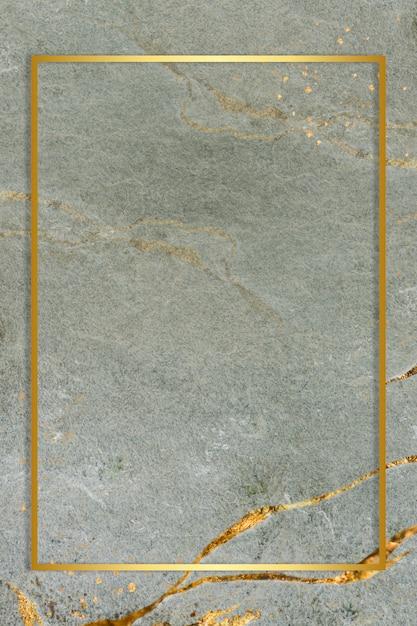 Cornice dorata su fondo marmorizzato Foto Gratuite