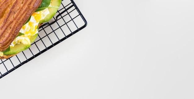 Cornice per alimenti piatta con copia-spazio Foto Gratuite