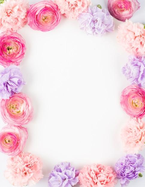 Cornice rettangolare floreale pastello Foto Gratuite
