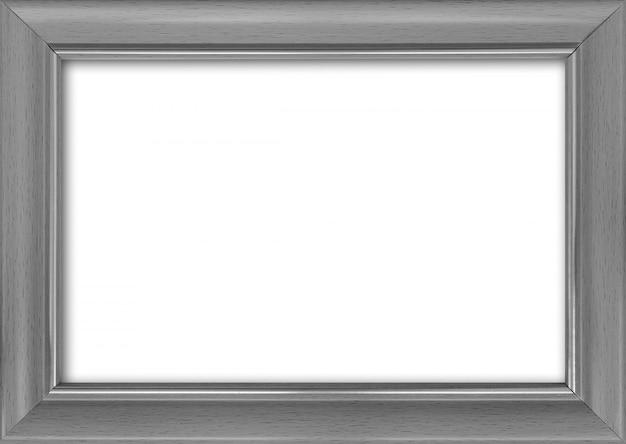 Cornice vuota con un posto libero dentro, isolato su bianco Foto Premium