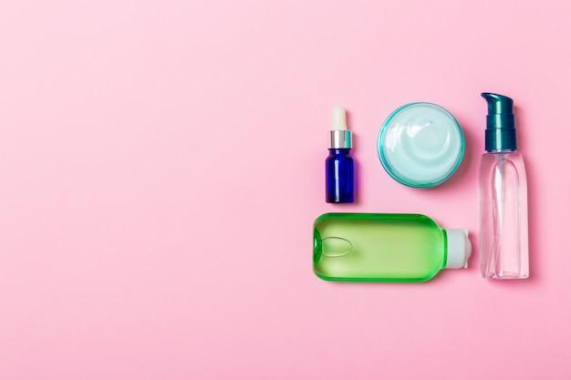Cosmetici spa marchio mock-up, vista dall'alto Foto Premium