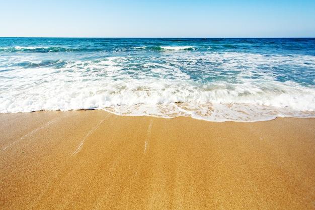 Costa del mare, sfondo per il testo Foto Premium