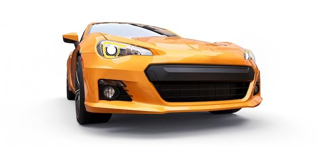 Coupé giallo piccola auto sportiva Foto Premium