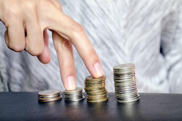 Crescita della carriera e aumento dei salari Foto Premium