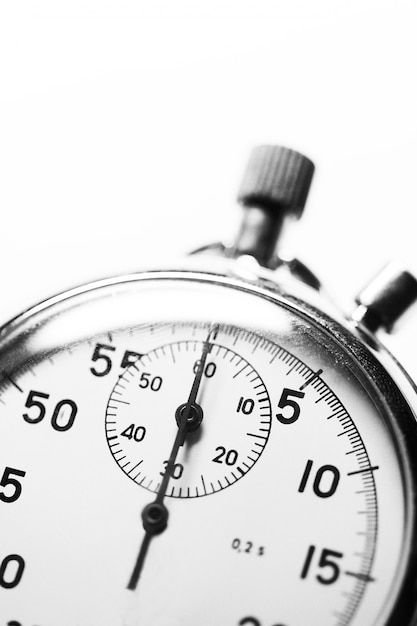 Cronometro bianco e nero Foto Premium