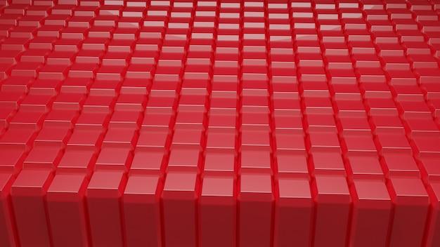 Cubetti di sfondo astratto rosso blocco 3d redering Foto Premium