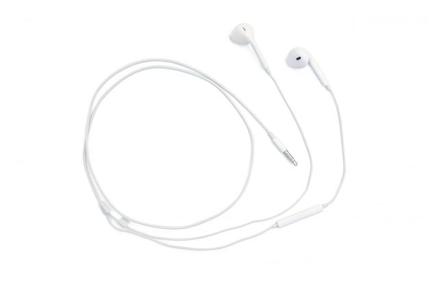 Cuffie bianche isolate su bianco con il percorso di ritaglio Foto Premium