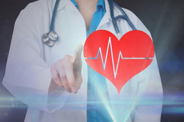 Cuore carriera cardiaco tasso cartellone Foto Gratuite