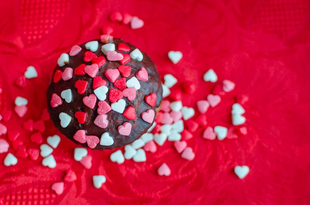 Cupcakes con cuoricini Foto Premium