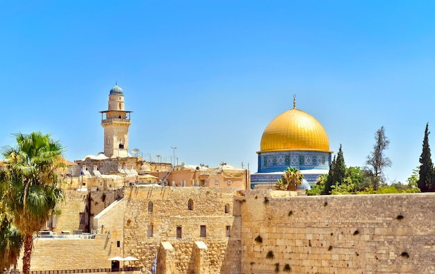 Cupola della roccia a gerusalemme, israele Foto Premium