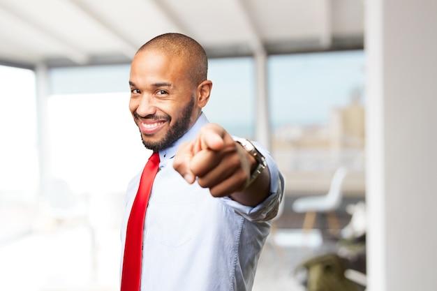 D'affari nero felice espressione Foto Gratuite
