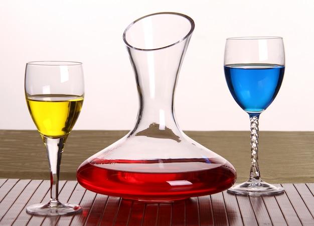 Decanter e bicchieri Foto Premium