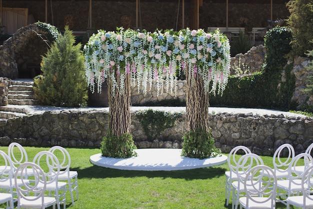 Decorazione cerimonia di nozze Foto Premium